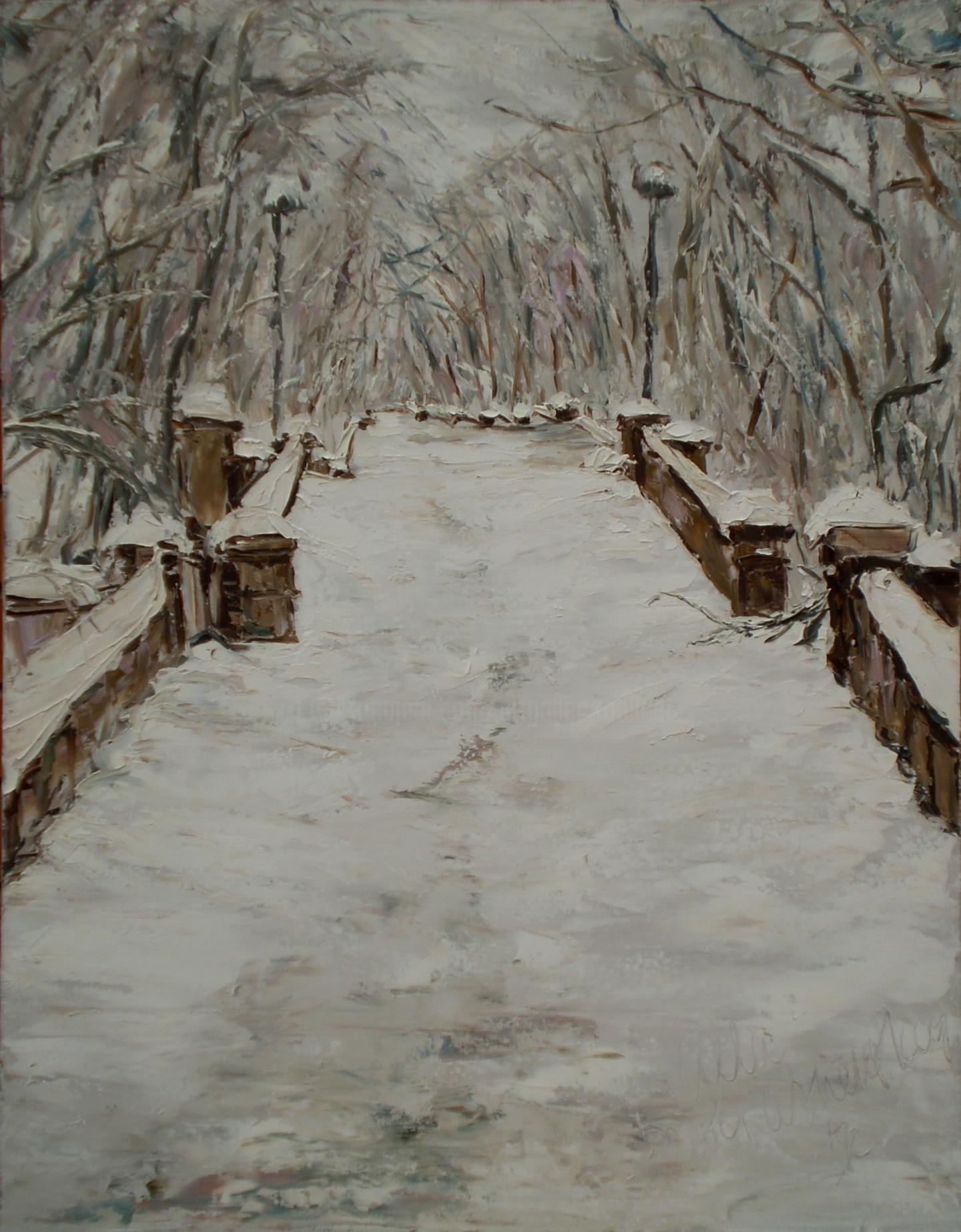 Alla Preobrazhenska-Ronikier - Winter lane