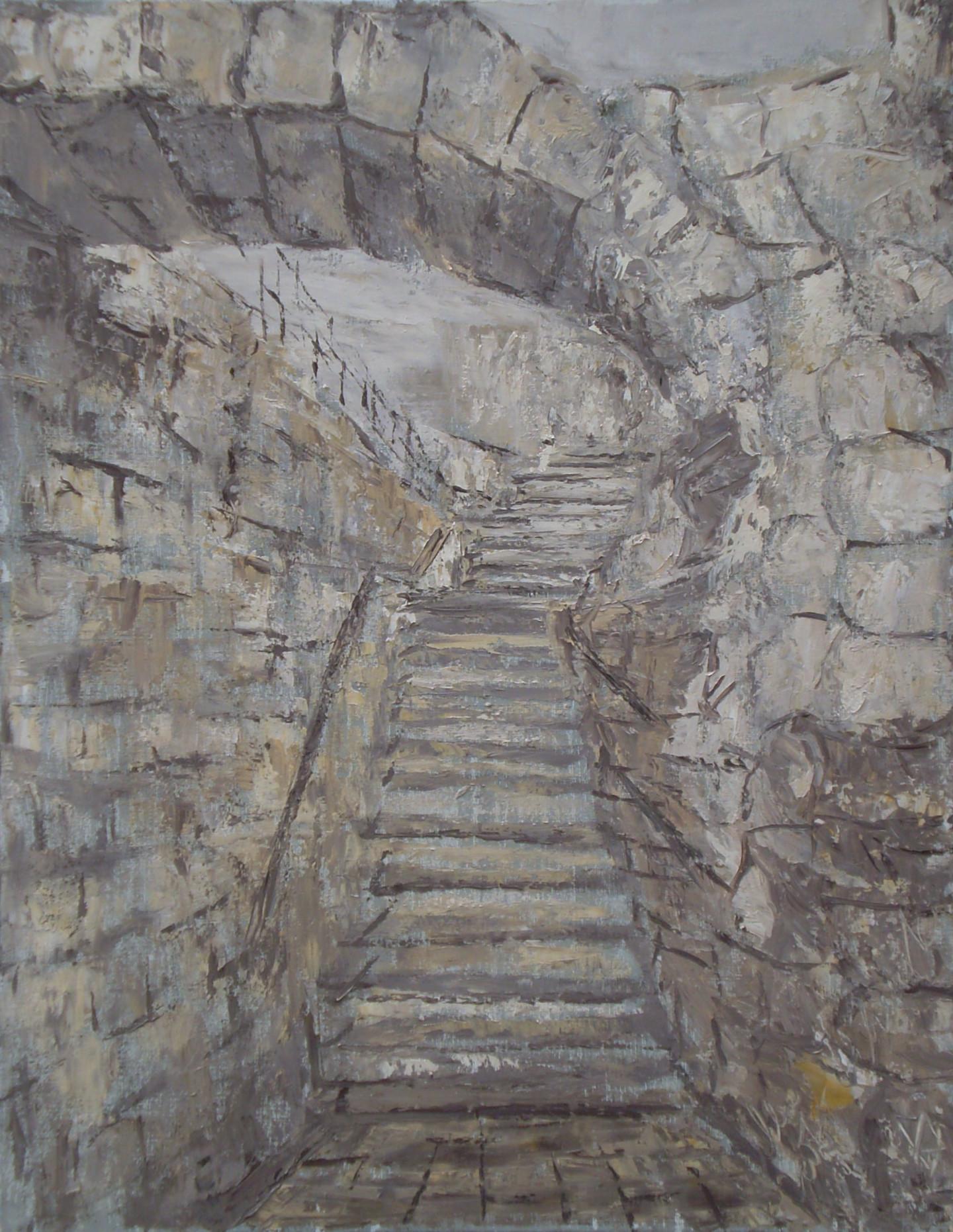 Alla Preobrazhenska-Ronikier - Jerusalem. Stairs
